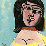 Pablo Picasso (1881-1973) Period of creation: 1931-1942 - 1937 TИte de femme (Dora Maar)