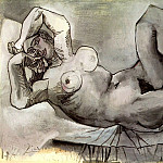 Pablo Picasso (1881-1973) Period of creation: 1931-1942 - 1938 Femme couchВe (Dora Maar)