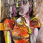 1938 Femme assise 1, Pablo Picasso (1881-1973) Period of creation: 1931-1942