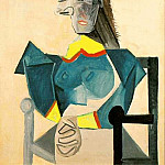 1942 Femme assise au chapeau-poisson, Pablo Picasso (1881-1973) Period of creation: 1931-1942