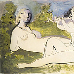 Pablo Picasso (1881-1973) Period of creation: 1931-1942 - 1932 Joueur de flЦte et nu couchВ