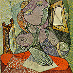 Pablo Picasso (1881-1973) Period of creation: 1931-1942 - 1936 Femme Вcrivant une lettre [Portrait de femme]