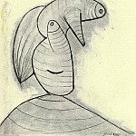 1936 TИte, Pablo Picasso (1881-1973) Period of creation: 1931-1942