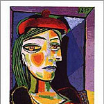Pablo Picasso (1881-1973) Period of creation: 1931-1942 - 1937 Femme au beret rouge