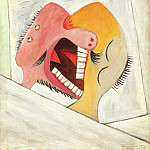 Pablo Picasso (1881-1973) Period of creation: 1931-1942 - 1931 Le baiser (Deux tИtes)