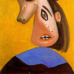 1939 TИte de femme en pleurs, Pablo Picasso (1881-1973) Period of creation: 1931-1942