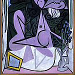 1934 Nu au bouquet diris et au miroir, Pablo Picasso (1881-1973) Period of creation: 1931-1942
