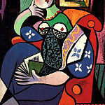 1932 Femme tenant un livre , Pablo Picasso (1881-1973) Period of creation: 1931-1942