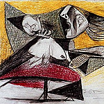 Pablo Picasso (1881-1973) Period of creation: 1931-1942 - 1937 Guernica [Рtude] III