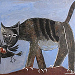1939 Le chat saisissant un oiseau. JPG, Pablo Picasso (1881-1973) Period of creation: 1931-1942