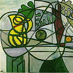 Pablo Picasso (1881-1973) Period of creation: 1931-1942 - 1931 Pichet, coupe de fruits et feuillage