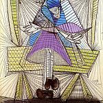 Pablo Picasso (1881-1973) Period of creation: 1931-1942 - 1938 Femme assise (Dora Maar)