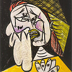 1937 La femme qui pleure au foulard 4, Pablo Picasso (1881-1973) Period of creation: 1931-1942