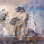 Pablo Picasso (1881-1973) Period of creation: 1931-1942 - 1936 La dВpouille du Minotaure en costume dArlequin