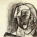 1938 TИte de femme 1, Pablo Picasso (1881-1973) Period of creation: 1931-1942