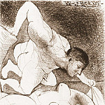 Pablo Picasso (1881-1973) Period of creation: 1931-1942 - 1931 Homme dВvoilant une femme (Suite Vollard L5)