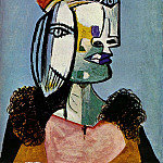 Pablo Picasso (1881-1973) Period of creation: 1931-1942 - 1937 Portrait de femme au bВret4