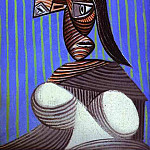 Pablo Picasso (1881-1973) Period of creation: 1931-1942 - 1939 Buste de femme au chapeau rayВ