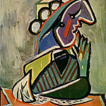 1936 Portrait de femme de profil, Pablo Picasso (1881-1973) Period of creation: 1931-1942