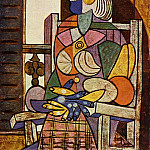 1937 Femme assise devant la fenИtre , Pablo Picasso (1881-1973) Period of creation: 1931-1942