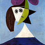Pablo Picasso (1881-1973) Period of creation: 1931-1942 - 1935 Femme au chapeau