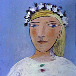Pablo Picasso (1881-1973) Period of creation: 1931-1942 - 1937 Portrait de femme Е la guirlande [Marie-ThВrКse couronnВ de fleurs]