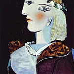1937 Portrait de Marie-ThВrКse Walter Е la guirlande, Pablo Picasso (1881-1973) Period of creation: 1931-1942