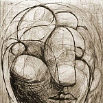 1933 TИte de femme, Pablo Picasso (1881-1973) Period of creation: 1931-1942