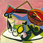 Pablo Picasso (1881-1973) Period of creation: 1931-1942 - 1938 Nature morte Е linstrument de musique
