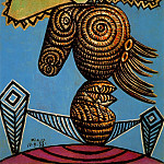 1938 Figure fВminine au chapeau, assise sur une chaise, Pablo Picasso (1881-1973) Period of creation: 1931-1942