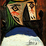 Pablo Picasso (1881-1973) Period of creation: 1931-1942 - 1939 TИte de figure fВminine (Dora Maar)