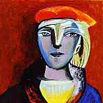 1937 Portrait de femme au bВret, Pablo Picasso (1881-1973) Period of creation: 1931-1942