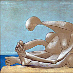 1937 Femme assise sur la plage, Pablo Picasso (1881-1973) Period of creation: 1931-1942
