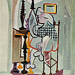 Pablo Picasso (1881-1973) Period of creation: 1931-1942 - 1936 Femme devant une coiffeuse