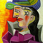 1938 Femme au chapeau bleu, Pablo Picasso (1881-1973) Period of creation: 1931-1942