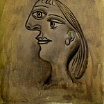 Pablo Picasso (1881-1973) Period of creation: 1931-1942 - 1938 TИte de femme - Profil gauche