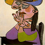 1938 Femme accoudВe, Pablo Picasso (1881-1973) Period of creation: 1931-1942