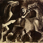1939 Chevaux et personnage, Pablo Picasso (1881-1973) Period of creation: 1931-1942