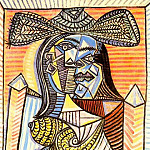 1938 Femme assise 4, Pablo Picasso (1881-1973) Period of creation: 1931-1942