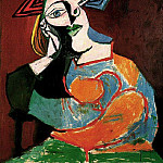 1939 Femme accoudВe, Pablo Picasso (1881-1973) Period of creation: 1931-1942