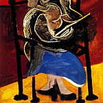 Pablo Picasso (1881-1973) Period of creation: 1931-1942 - 1939 Femme lisant