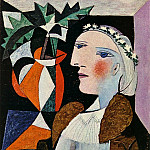 Pablo Picasso (1881-1973) Period of creation: 1931-1942 - 1937 Portrait de femme Е la guirlande