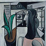 Pablo Picasso (1881-1973) Period of creation: 1931-1942 - 1941 Femme et cage Е oiseaux prКs de la fenИtre