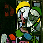 Pablo Picasso (1881-1973) Period of creation: 1931-1942 - 1934 Femme Вcrivant