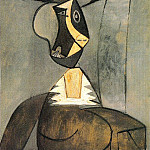 1942 Femme en gris, Pablo Picasso (1881-1973) Period of creation: 1931-1942