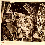 Pablo Picasso (1881-1973) Period of creation: 1931-1942 - 1934 Minotaure aveugle guidВ par une fillette dans la nuit IVb (Suite Vollard L92)