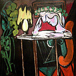Pablo Picasso (1881-1973) Period of creation: 1931-1942 - 1934 Fille lisant Е une table