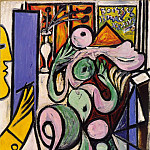 Pablo Picasso (1881-1973) Period of creation: 1931-1942 - 1934 Le peintre (Composition)