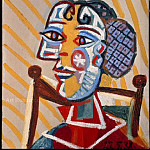 1938 Femme assise, Pablo Picasso (1881-1973) Period of creation: 1931-1942