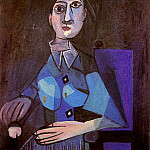 1942 Femme assise au petit chapeau rond, Pablo Picasso (1881-1973) Period of creation: 1931-1942